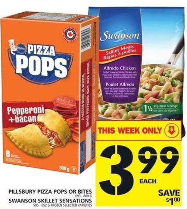 Pillsbury Pizza Pops Or Bites Or Swanson Skillet Sensations