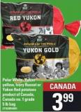Polar White - Yukon Yellow - Ivory Russet Or Yukon Red Potatoes - 5 Lb Bag