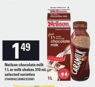 Neilson Chocolate Milk 1 L Or Milk Shakes 310 mL