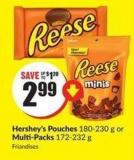 Hershey's Pouches 180-230 g or Multi-packs 172-232 g