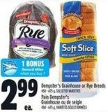 Dempster's Grainhouse Or Rye Breads 450 - 675 g