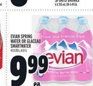 Evian Spring Water Or Glaceau Smartwater