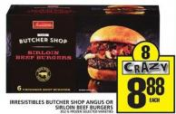 Irresistibles Butcher Shop Angus Or Sirloin Beef Burgers