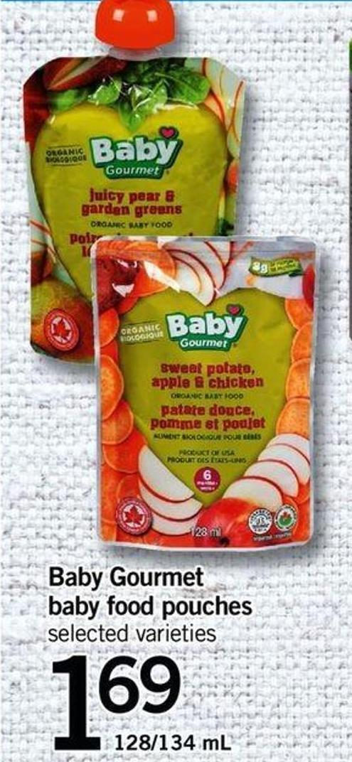 Baby Gourmet Baby Food Pouches - 128/134 Ml