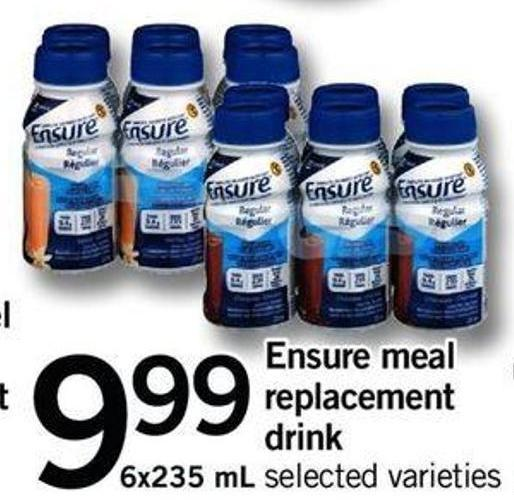 Ensure Meal Replacement Drink - 6x235 mL