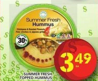 Summer Fresh  Topped  Hummus 283 g