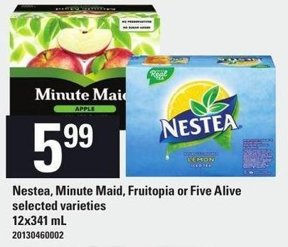 Nestea - Minute Maid - Fruitopia Or Five Alive - 12x341 mL