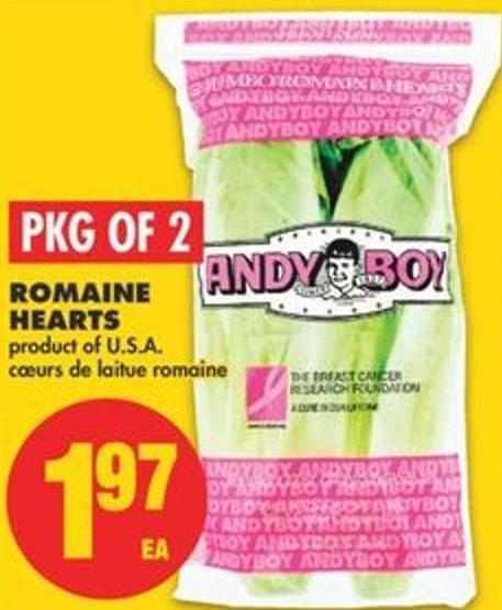 Romaine Hearts - Pkg Of 2