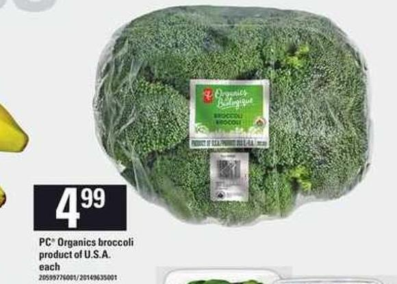 PC Organics Broccoli