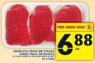 Boneless Cross Rib Steaks Family Pack Or Roasts