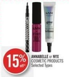 Annabelle or Nyx Cosmetic Products