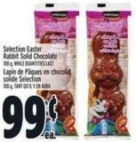 Selection Easter Rabbit Solid Chocolate 100 G
