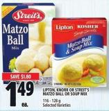 Lipton - Knorr Or Streit's Matzo Ball Or Soup Mix 116 - 128 g