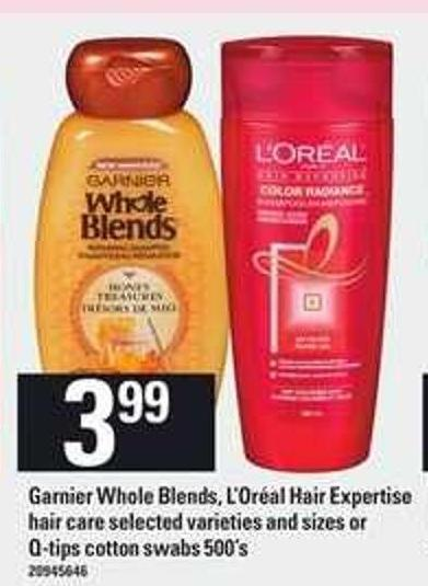 Garnier Whole Blends - L'oréal Hair Expertise Hair Care Or Q-tips Cotton Swabs - 500's