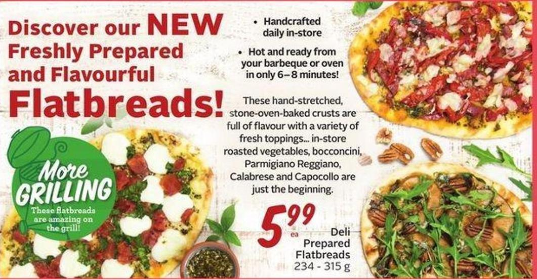 Deli Prepared Flatbreads