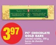 PC Chocolate Gold Bars - 300 g