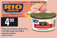 Clover Leaf Sockeye Salmon 213 G Or Rio Mare Light Tuna 3x80 G