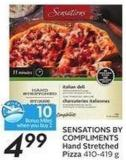 Sensations By Compliments Hand Stretched Pizza - 10 Air Miles Bonus Miles 410-419 g