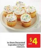 In-store Decorated Cupcakes 6-pack