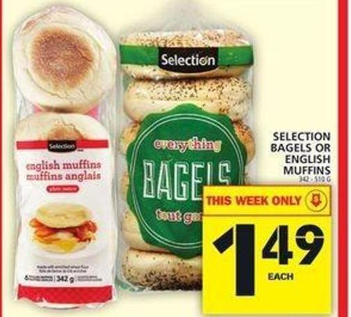 Selection Bagels Or English Muffins