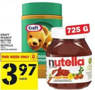 Kraft Peanut Butter Or Nutella