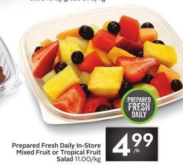 Prepared Fresh Daily In-store Mixed Fruit or Tropical Fruit Salad
