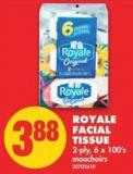Royale Facial Tissue - 2-ply - 6 X 100's