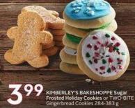Kimberley's Bakeshoppe Sugar Frosted Holiday Cookies or Two-bite Gingerbread Cookies 284-383 g
