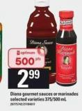Diana Gourmet Sauces Or Marinades - 375/500 mL