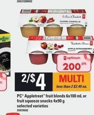 PC Appletreet Fruit Blends - 6x100 Ml Or Fruit Squeeze Snacks - 4x90 G
