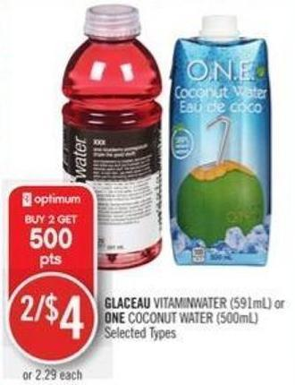 Glaceau Vitaminwater (591ml) or One Coconut Water (500ml)