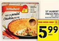 St Hubert Fresh Pies