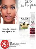 Olay Whip Facial Cleansers (150ml) or Moisturizers (50ml)