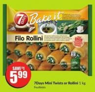 7days Mini Twists or Rollini 1 Kg