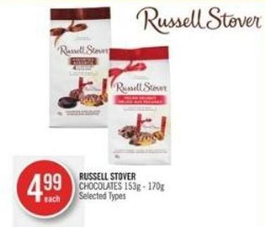 Russell Stover Chocolates 153g - 170g
