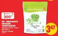 PC Organics Frozen Vegetables - 300/500 g