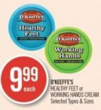 O'keeffe's Healthy Feet or Working Hands Cream