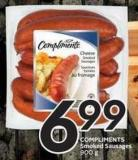 Compliments Smoked Sausages 900 g