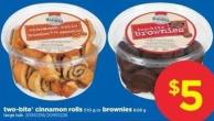 Two-bite Cinnamon Rolls - 510 G Or Brownies - 608 G Large Tub