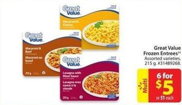 Great Value Frozen Entrees