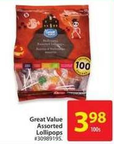 Great Value Assorted Lollipops