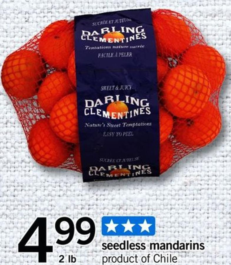 Seedless Mandarins - 2 Lb