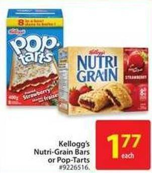 Kellogg's Nutri-grain Bars or Pop-tarts