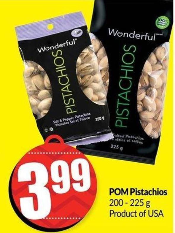 POM Pistachios 200-225 g Product of USA