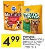 Pedigree Breathbuster 500 g - Dentastix 237 g or Marrobone Dog Treats 737 g