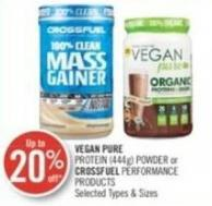 Vegan Pure Protein (444g) Powder or Crossfuel Performance Products
