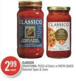 Classico Traditional Pizza or Pasta Sauce 410 ml