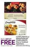 Compliments or Sensations By Compliments Meat or Seafood Appetizers