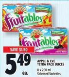 Apple & Eve Tetra Pack Juices