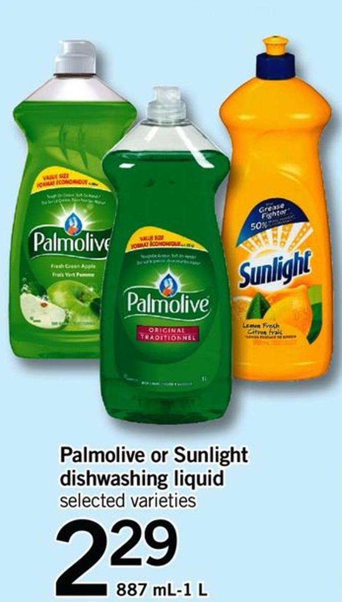 Palmolive Or Sunlight Dishwashing Liquid - 887 Ml-1 L